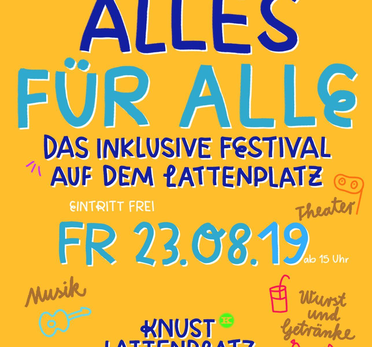 Alles für Alle: inklusive Festival auf dem Lattenplatz